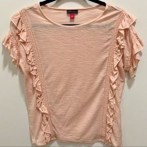VINCE CAMUTO TIERED RUFFLE TOP - NWOT
